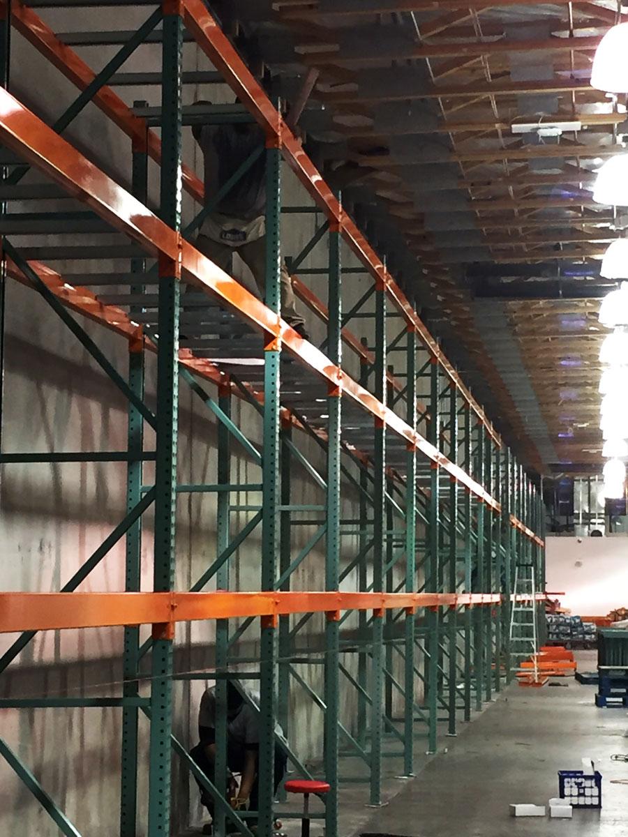 Pallet rack installation at Costco