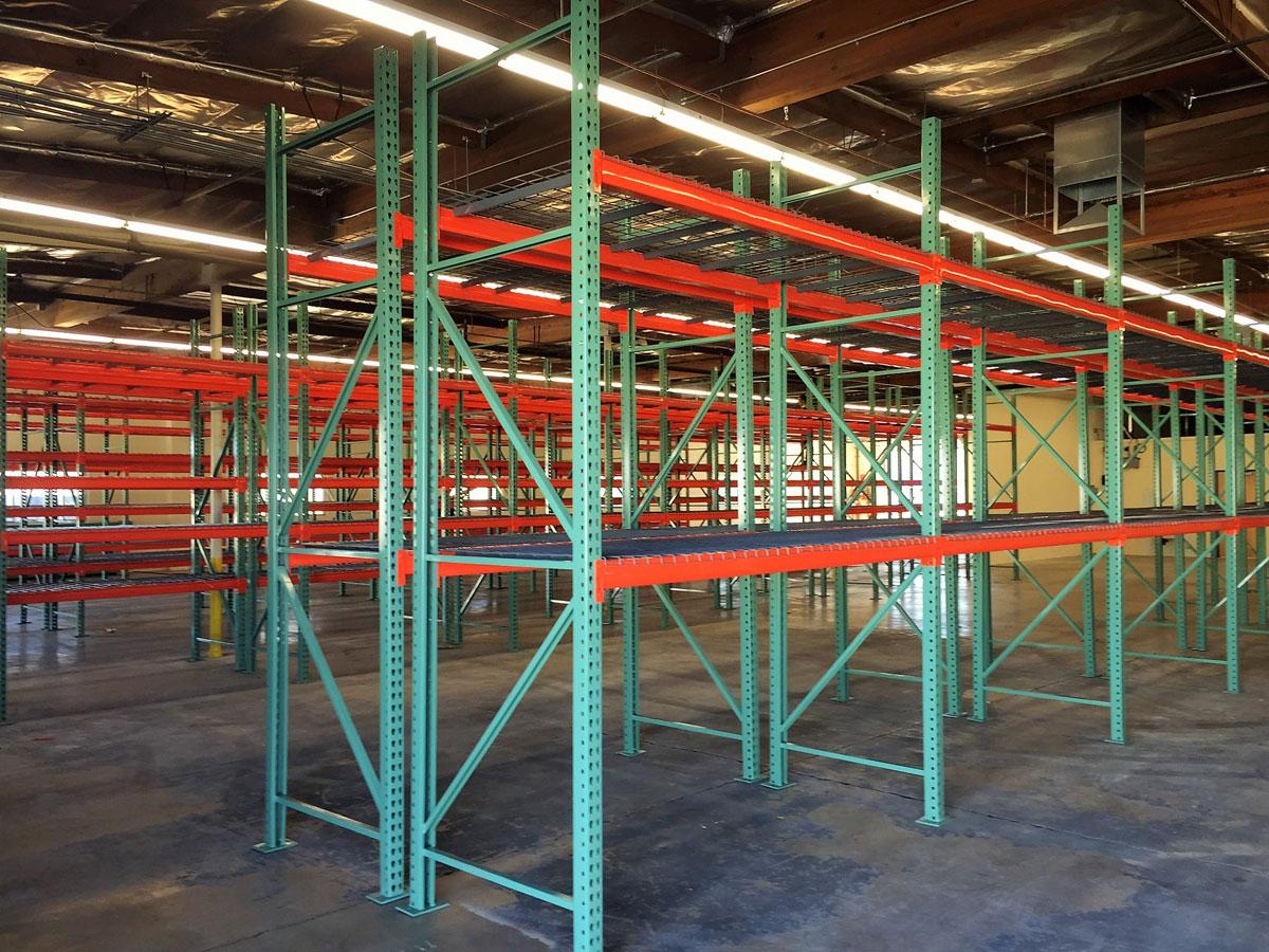 Pallet racks at Sonoran Plumbing Supply