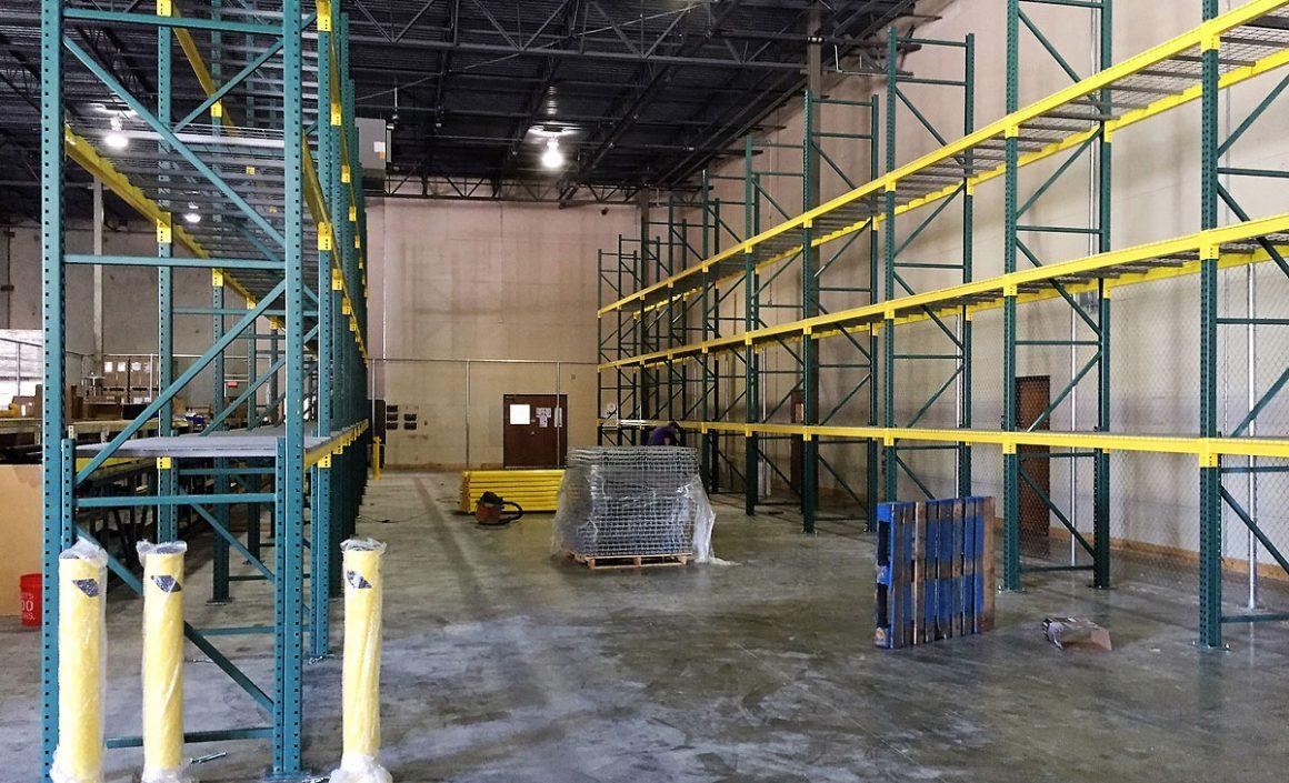 SolarCity pallet rack installation