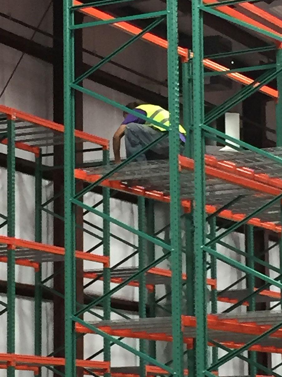Takata pallet rack installation