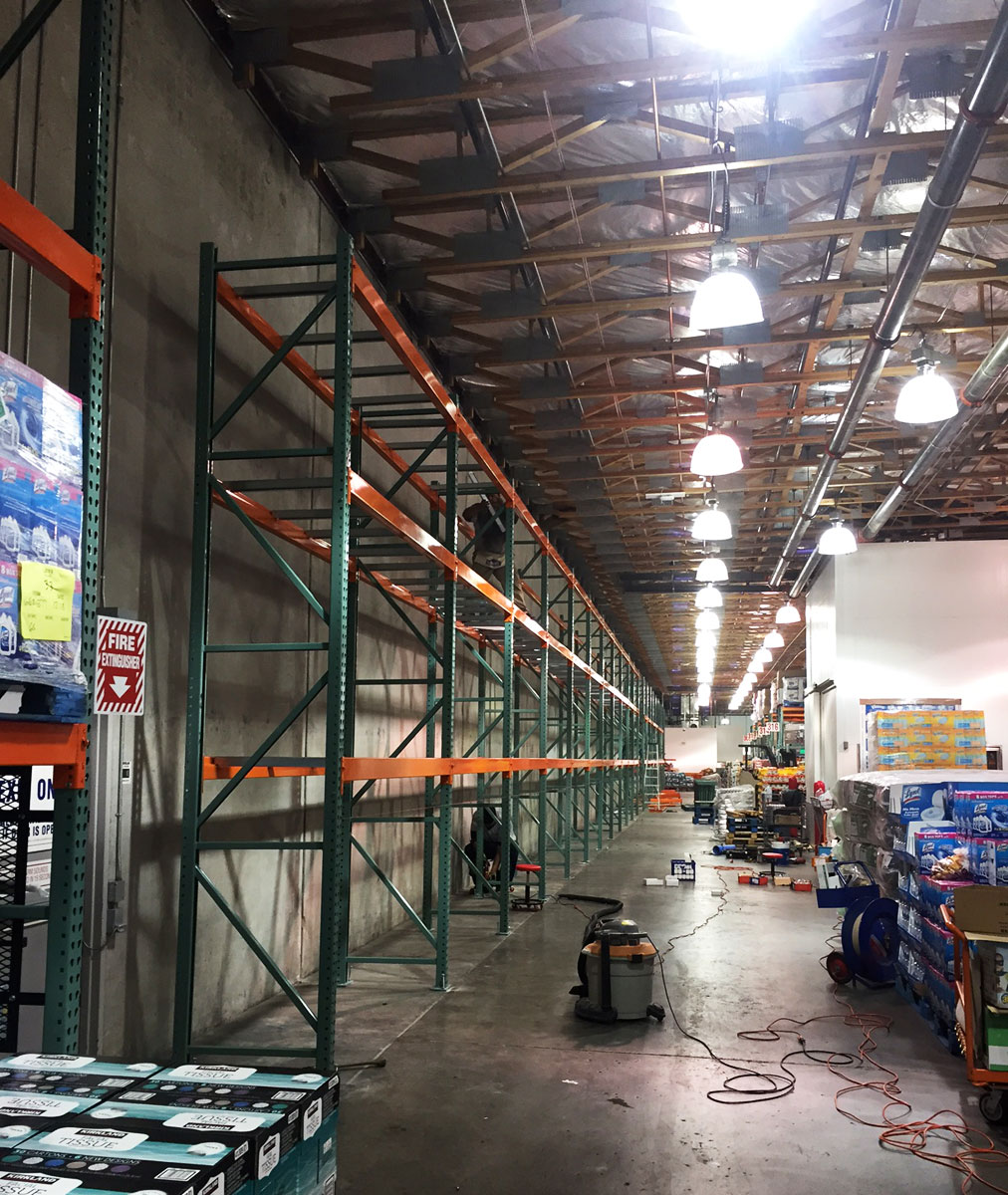 Costco pallet rack installation
