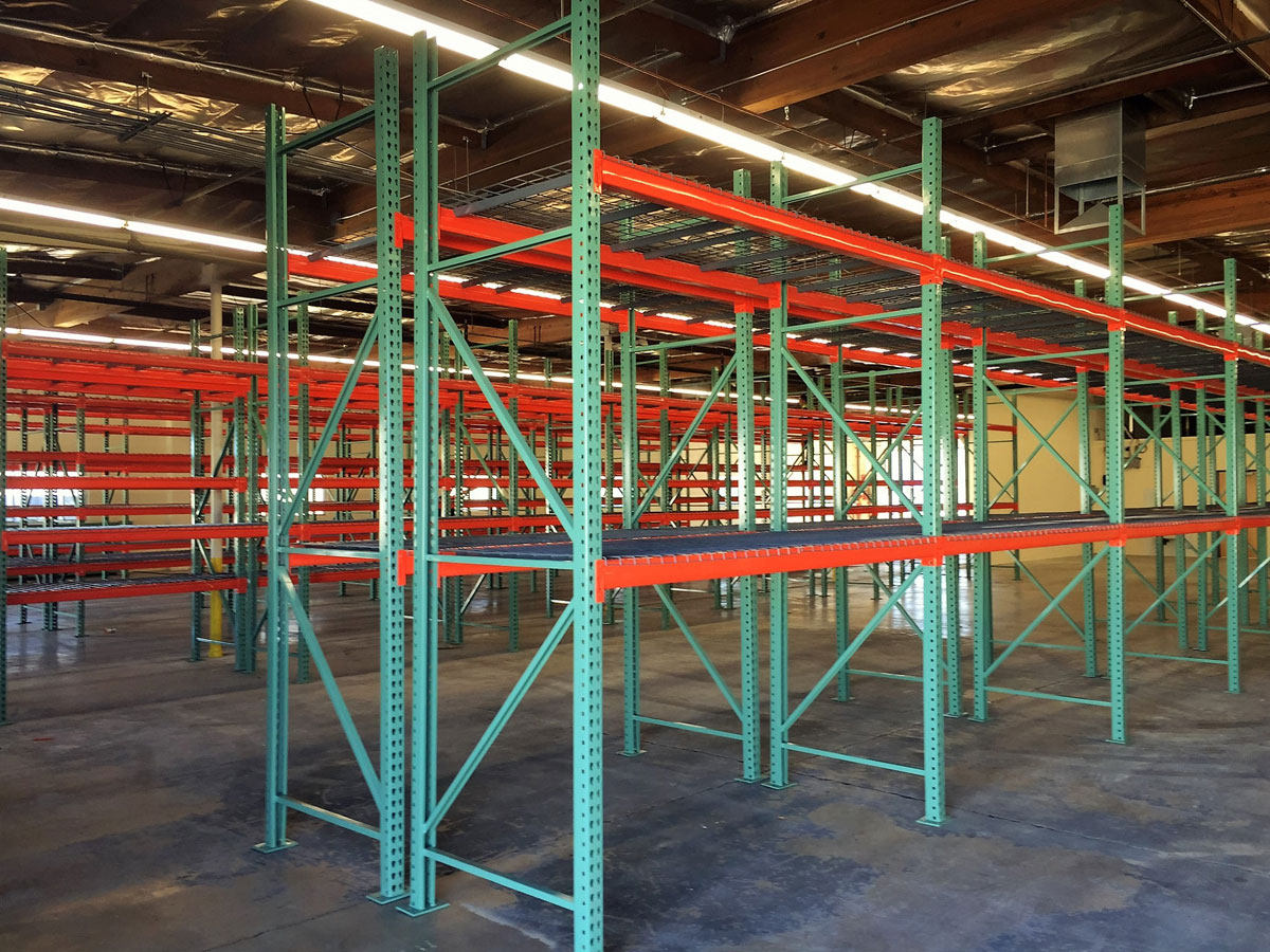 Installed pallet racks at Sonoran Plumbing Supply